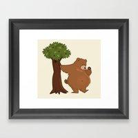 Bear And Madrono Framed Art Print