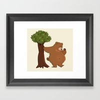 Bear and Madrono Framed Art Print