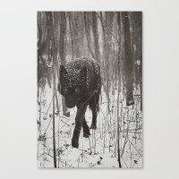 Canvas Prints featuring Snow Wolf by Rachel Lauren