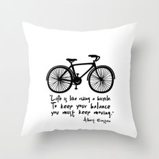 Life Is Like Riding A Bi… Throw Pillow
