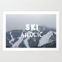 SKIaholic Art Print
