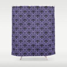Haunted Mansion Wallpaper Shower Curtain