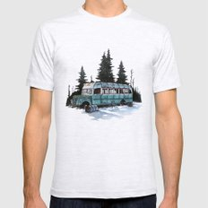 into the wild  Mens Fitted Tee Ash Grey SMALL