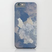 iPhone & iPod Case featuring Airforce Blue Floral Hues  by annabours