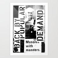 Muscles On Demand (B&W)2 Art Print