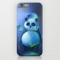 iPhone & iPod Case featuring aqua panda by Rihards Donskis