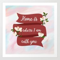 Home Is - In Red Art Print