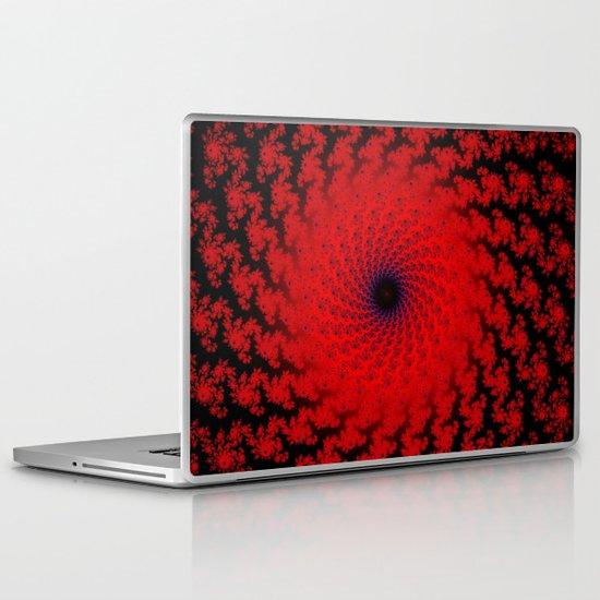 Red Space Spiral Fractal  Laptop & iPad Skin