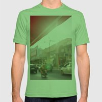 Red Mens Fitted Tee Grass SMALL