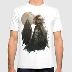 Come To The Dark Side Mens Fitted Tee White SMALL