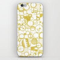 Golden Doodle Circles iPhone & iPod Skin