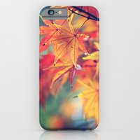 iPhone Cases featuring fall leaves by Sylvia Cook Photography