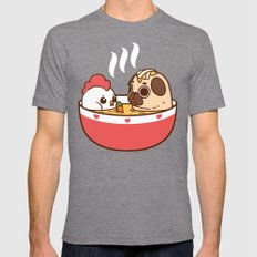 Chicken Noodle Puglie Soup Mens Fitted Tee Tri-Grey SMALL