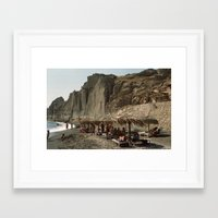Eros Beach, Santorini Framed Art Print