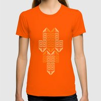 LONGO 1 Womens Fitted Tee Orange SMALL