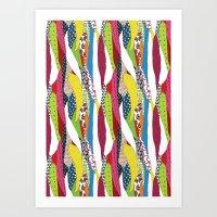 Patchwork pattern Art Print