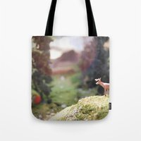Temporary Happiness part 1 deer Tote Bag