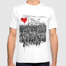 I love Tokyo SMALL Mens Fitted Tee White