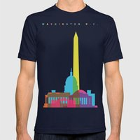 Shapes of Washington D.C. Accurate to scale Mens Fitted Tee Navy SMALL