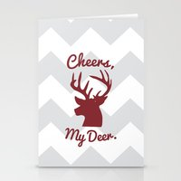 Cheers, My Deer. Stationery Cards
