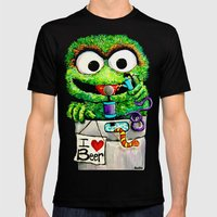 THE GROUCH Mens Fitted Tee Black SMALL