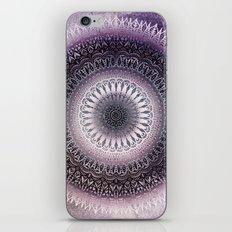 PURPLE WINTER LEAVES MANDALA iPhone & iPod Skin