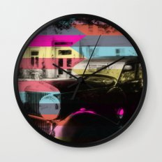 colorful confusion Wall Clock
