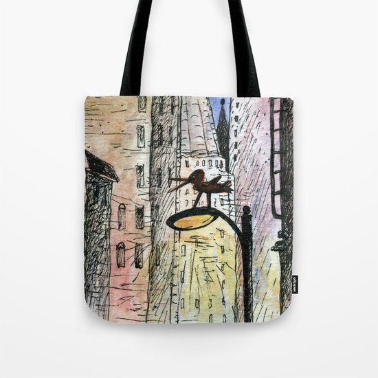 bird in the city Tote Bag