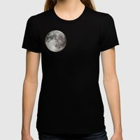 Moon Womens Fitted Tee Black SMALL