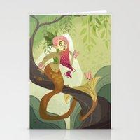 Jungle Mermaid Stationery Cards
