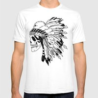 Black And White Native A… Mens Fitted Tee White SMALL