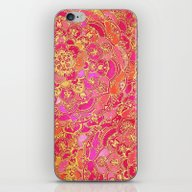 Hot Pink And Gold Baroqu… iPhone & iPod Skin