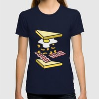 Sandwich Womens Fitted Tee Navy SMALL