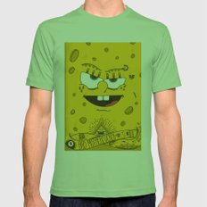 Sponge Bob Mens Fitted Tee Grass SMALL