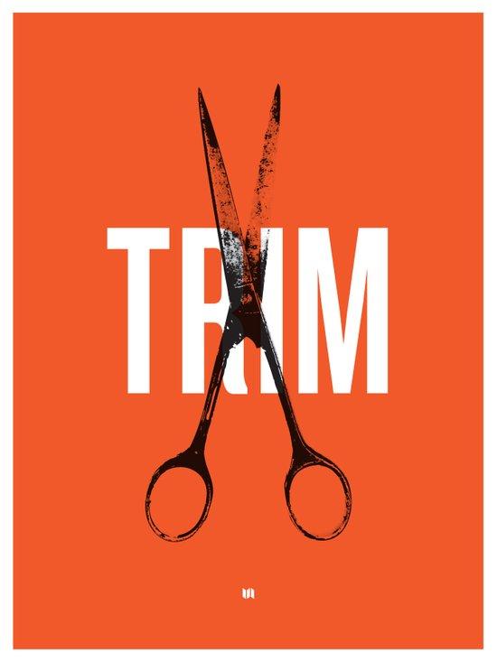 Barbershop Design Ethos / Trim Canvas Print