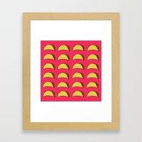 Tacos for Days Framed Art Print