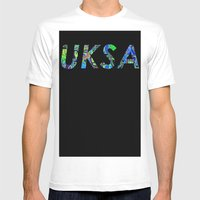 UKSA #3 Mens Fitted Tee White SMALL