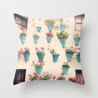 Flowerpots Throw Pillow