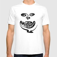 Smiley Face Mens Fitted Tee White SMALL