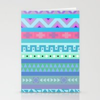 Calm Colored Tribal Print Stationery Cards