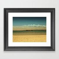 Desert Island Framed Art Print