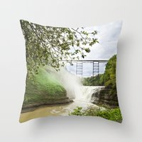 Spring Canyon - Railroad Trussel Throw Pillow