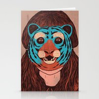 Tiger Face Stationery Cards