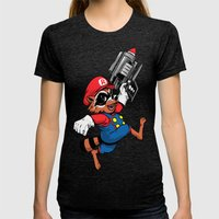 Super Rocket Womens Fitted Tee Tri-Black SMALL