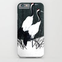 iPhone & iPod Case featuring Japanese Cranes / Sayuri by Gelrev Ongbico