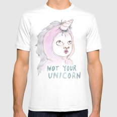 Not Your Unicorn Mens Fitted Tee White SMALL