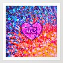 CHOOSE JOY Christian Art Abstract Painting Typography Happy Colorful Splash Heart Proverbs Scripture Art Print