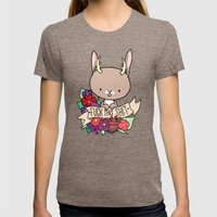 Jackalope, EFF THIS SH*T Womens Fitted Tee Tri-Coffee SMALL