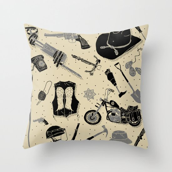 Artifacts: Walking Dead Throw Pillow