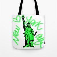 New York City Neon Green Tote Bag